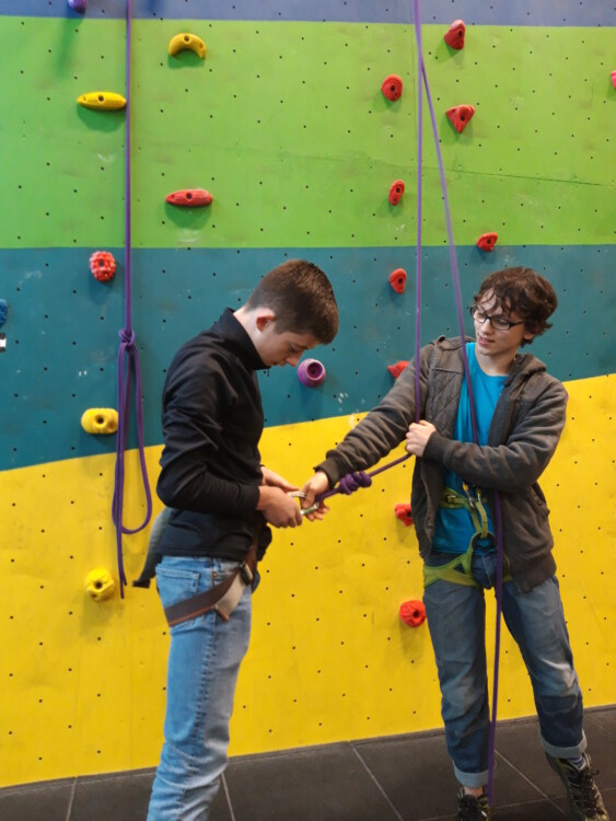 wall climbing boys